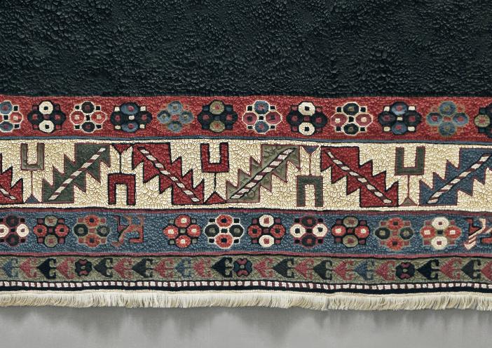 Vincent Kriste Ausschnitt aus: Teppich, 2014, Acryl auf Baumwolle